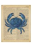 Vintage Crab Art by  Sparx Studio