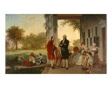 Washington and Lafayette at Mount Vernon, 1784, 1859 Prints by  Rossiter & Mignot