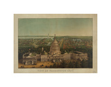 View of Washington City, c. 1869 Posters af Vintage Reproduction