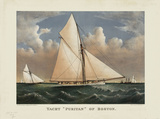 "Yacht ""Puritan"" of Boston Prints by  Currier & Ives"