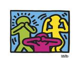 Keith Haring - Untitled, 1989 (no evil) - Reprodüksiyon
