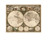 World Map, 1660 Prints by  Ward Maps
