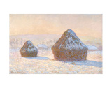 Wheatstacks, Snow Effect, Morning, 1891 Prints by Claude Monet