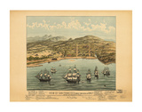 View of San Francisco 1846-7 Prints by  Vintage Reproduction