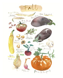 Fall Vegetables Art by Lucile Prache