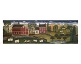 Farm Pederson Print by Diane Ulmer Pedersen