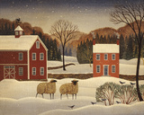 Winter Sheep I Poster by Diane Ulmer Pedersen
