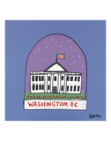 Washington D.C. Snow Globe Prints by Brian Nash
