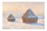 Claude Monet - Wheatstacks, Snow Effect, Morning, 1891 Plakát