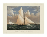 """Yacht """"Puritan"""" of Boston Plakat af Currier & Ives"""