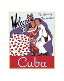 Welcome to Cuba Poster av  Vintage Poster
