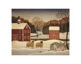 Moutons en hiver I Affiches par Diane Ulmer Pedersen