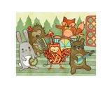 Woodland Jamboree Prints by  My Zoetrope