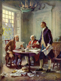 Writing the Declaration of Independence, 1776 Posters by Jean Leon Gerome Ferris