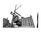 West Broadway and Franklin Street (b/w) Affiches par Erin Clark