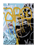 Yellow Aqua Graffiti 1 Prints by Jenny Kraft