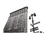 Flatiron (outline) Prints by Erin Clark