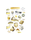 French Cheese Poster by Lucile Prache