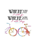 Where You Go Pósters por Danny Phillips