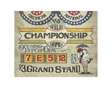 World's Championship Game (Scoreboard) Poster by  Zeke's Antique Signs