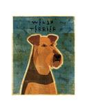 Welsh Terrier Plakaty autor John W. Golden
