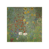 Farm Garden with Sunflowers, around 1905/1906 Giclee Print by Gustav Klimt