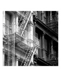 Fire Escape (b/w) Print by Erin Clark