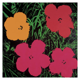 Flowers, 1964 (1 red, 1 yellow, 2 pink) Prints by Andy Warhol