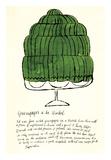 Wild Raspberries by Andy Warhol and Suzie Frankfurt, 1959 (green) Plakat af Andy Warhol