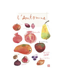 Fall Fruit Print by Lucile Prache