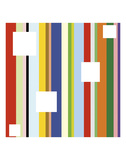 White Square on Stripe (detail) Posters by Dan Bleier
