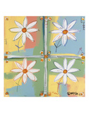 Four Daisies Prints by Brian Nash