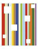 White Square on Stripe Posters by Dan Bleier