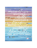 Whatever Is True Posters af Danny Phillips