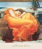 June in Flammen Poster von Frederic Leighton