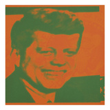 Flash-November 22, 1963, 1968 (orange & green) Posters by Andy Warhol