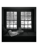 Window Seat Blizzard Kunstdruck von Tom Artin