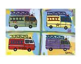 Four Fire Trucks Plakaty autor Brian Nash