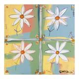 Four Daisies Prints by Brian Nash