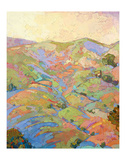 Hills in Quadtych (top left) Prints by Erin Hanson
