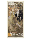 Flirt, 1899 Prints by Alphonse Mucha