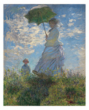 Woman with a Parasol, 1875 Print by Claude Monet
