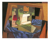 Fruit Bowl on a Tablecloth Art by Juan Gris