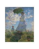 Woman with a Parasol, 1875 Prints by Claude Monet