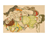 Female Lovers, 1915 Posters by Egon Schiele