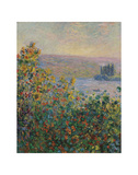 Flower Beds at Vetheuil, 1881 Prints by Claude Monet