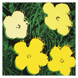 Flowers, 1970 (4 yellow) Pôsters por Andy Warhol