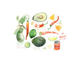 Guacamole Recipe Prints by Lucile Prache
