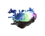 Jessica Durrant - Iceland's Northern Lights - Poster