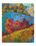 Hills in Quadtych (bottom left) Prints by Erin Hanson